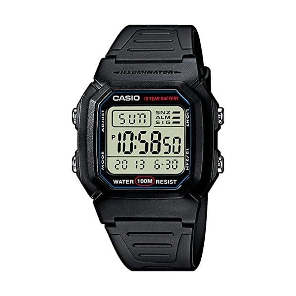 Casio Collection  W-800H-1AVES, Reloj Digital Unisex, Negro 51 K1b56AQL