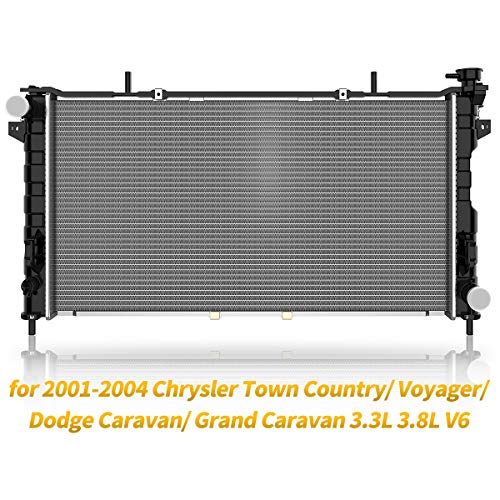 Radiator for 2001-2004 Chrysler Town Country Plymouth Voyager, for 2001-2004 Dodge Caravan Grand Caravan 3.3L 3.8L V6 ATRD1011 ()