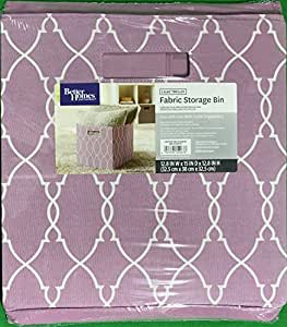 Better Homes And Gardens Collapsible Fabric Storage Cube Lilac Trellis Home Kitchen