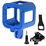 First2savvv GO-Session-GL-03 Aluminium Alloy Protective Housing Case Shell for GoPro Hero 4 Session GoPro Hero 5 Session + spanner