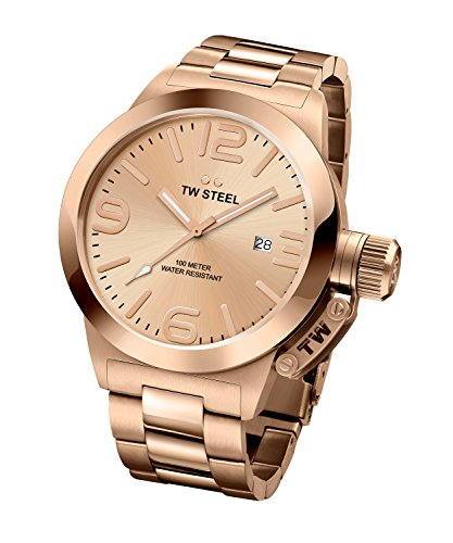 TW Steel Canteen Men's Rose Gold PVD Watch - CB232
