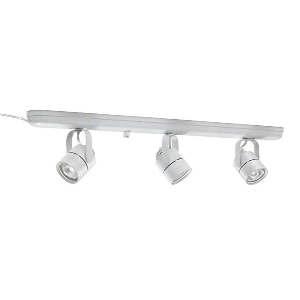 Lithonia lighting ltkmsbk mr16gu10 3l mw m4 mesh back 3 light halogen track lighting kit 27 white
