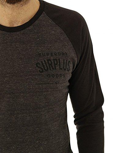 Superdry Shirts Langarmshirts Surplus Goods L/S Baseball Tee M60002tn-Xqs