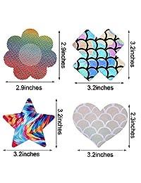 20 pares de cubiertas adhesivas desechables para pezones, sujetadores, calcomanías para pecho, lencería, pastas para mujeres y niñas