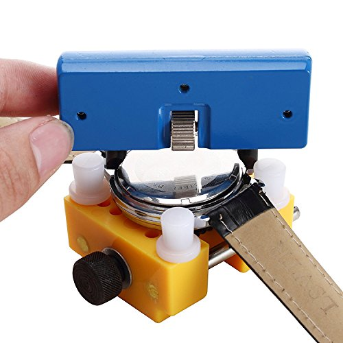 GZNIGHT Watch Adjustable Opener Back Case Press Closer Remover Repair Watchmaker Tool and Watch Case Back Opener Repair Remover Holder (Holder Jewelers Tools)