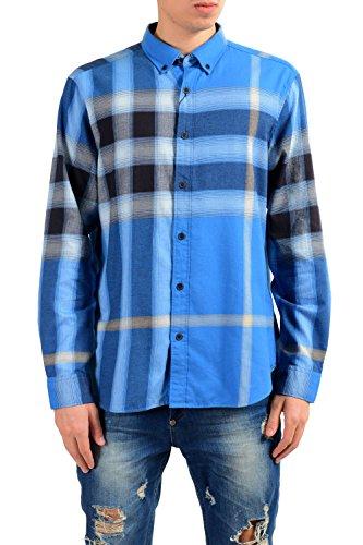 BURBERRY Brit Men's Plaid Flannel Long Sleeve Casual Shirt US XL IT - Burberry Shop Thailand