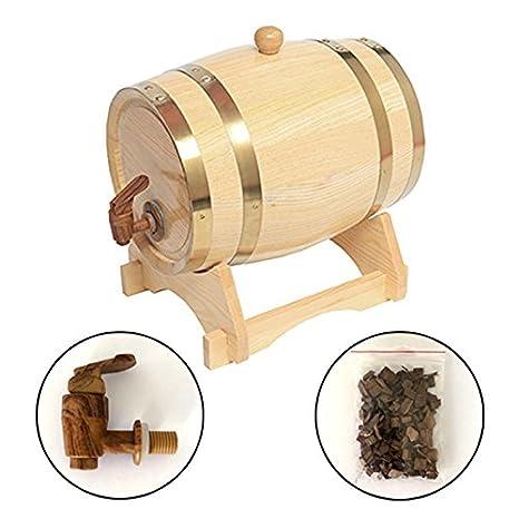 Superbe 1.5L Oak Barrel Wooden Barrel For Storage Or Aging Wine U0026 Spirits Wine  Barrels Wine