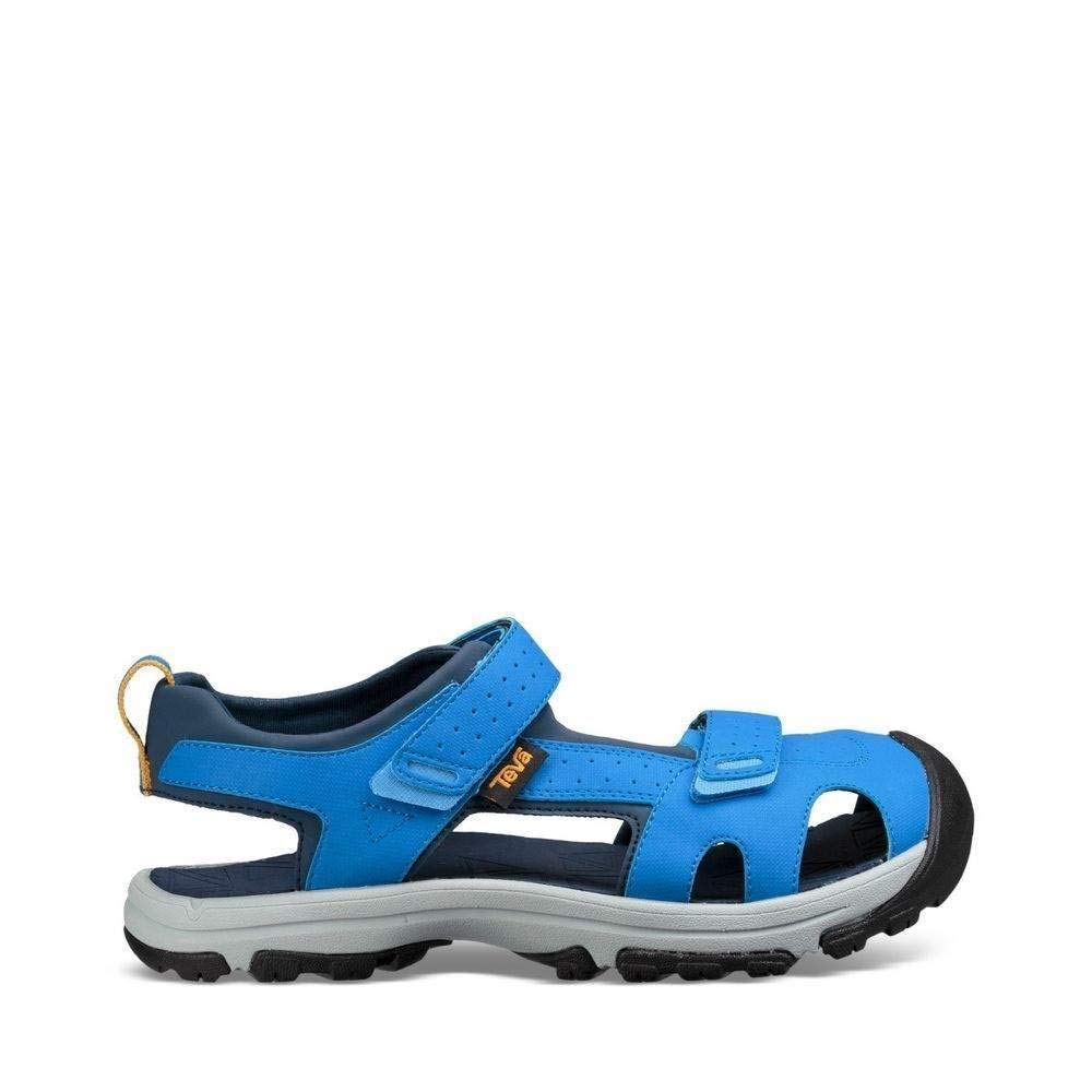 Teva Boys' Y Hurricane Toe PRO Sport Sandal, Dazzling Blue, 4 M US Big Kid