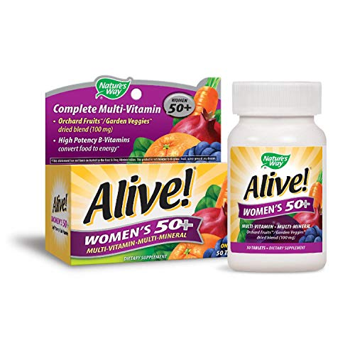 (Nature's Way Alive Women's 50 Plus Multivitamin and Mineral Tablets, 50 Count)