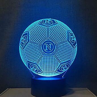 3d Led Nachtlicht Farben Andern Italien Ssc Napoli Dekoration Lampe Fussball Tischlampe Usb Touch Licht Kinder Vater Geschenk