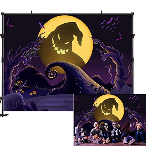 The Nightmare Before Christmas Halloween Wallpaper (Allenjoy Halloween Nightmare Before Christmas Backdrop 7x5ft Child Kid Halloween Decoration Photography Photo Booth Prop Pumpkin Halloween Decorations Decor Backdrop for)