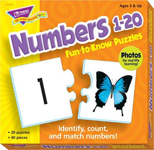 Trend Enterprises Numbers 1 to 20 Puzzle Set -  T36003