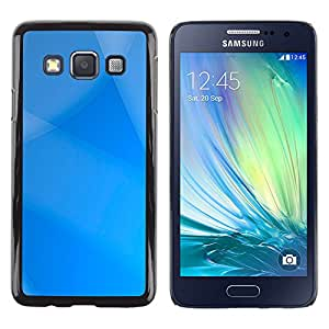MOBMART Carcasa Funda Case Cover Armor Shell PARA Samsung Galaxy A3 - Striped Blue Sky