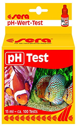 sera 04310 sera pH Test, Wassertest für ca. 100 Messungen, misst zuverlässig und genau den Säuregehalt, für Süß- & Meerwasser, im Aquarium oder Teich