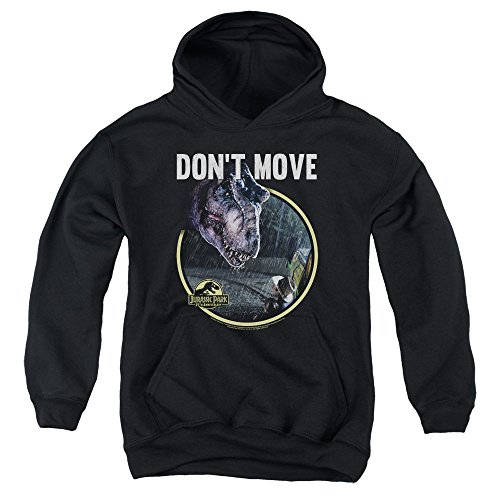 Jurassic Park Dont Move Unisex Youth Pull-Over Hoodie for Boys and Girls