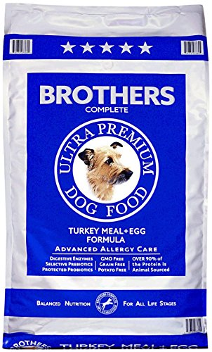 Brothers Complete Turkey Meal and Egg Advanced Allergy Formula, 25-Pound