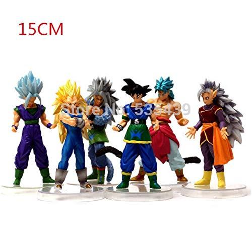 PampasSK Action & Toy Figures - Hot 6pcs/Set 15cm Dragon Ball Z Super Saiyan Vegeta Son Goku Kakarotto PVC Action Figure Toys Toy 1 PCs