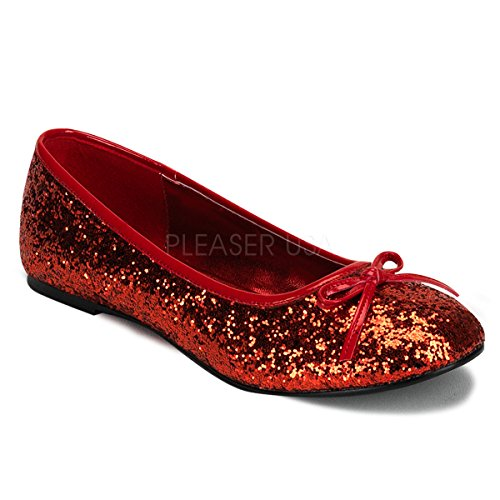 Funtasma by Pleaser Women's Star-16G Flat,Red Glitter,8 M US]()