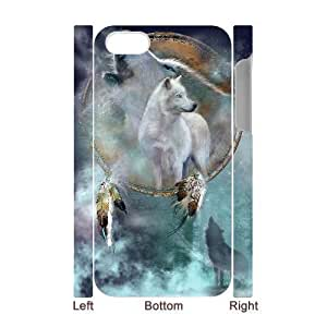 3D Bumper Plastic Case Of Wolf Howling customized case For iPhone 6 plus 5.5