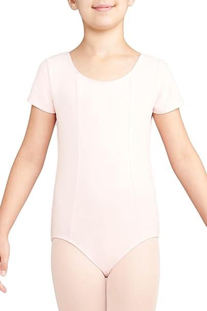 5ecb6bfd559fe Danskin Girls' Short Sleeve Leotard
