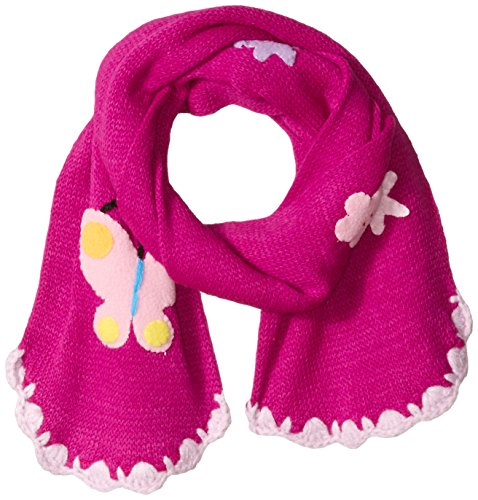 Kidorable Baby Little Soft Acrylic Knit Scarf for Girls, Butterfly (Purple), One Size
