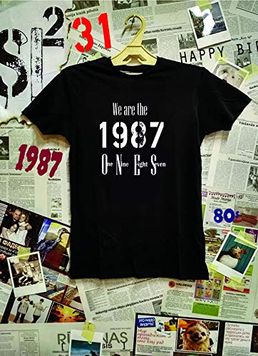 Made In 1987 T Shirt We Are One 31st Birthday Gift Adult Mens Tee
