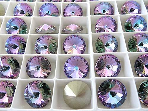 6 Vitrail Light Foiled Crystal Rivoli Stone 1122 14mm