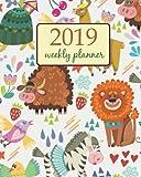 2019 Weekly Planner: Calendar Schedule Organizer Appointment Journal Notebook and Action day Cute animals design , Zebra lion birds (Weekly & Monthly Planner 2019)