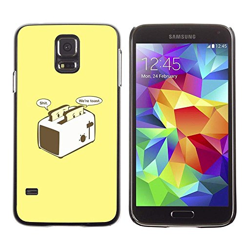 GRECELL CITY GIFT PHONE CASE /// Cellphone Protective Case Hard PC Slim Shell Cover Case for Samsung Galaxy S5 /// Toast Toaster Yellow Poster Funny