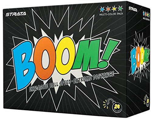 Strata Boom Golf Balls, (Two Dozen), Multi ()