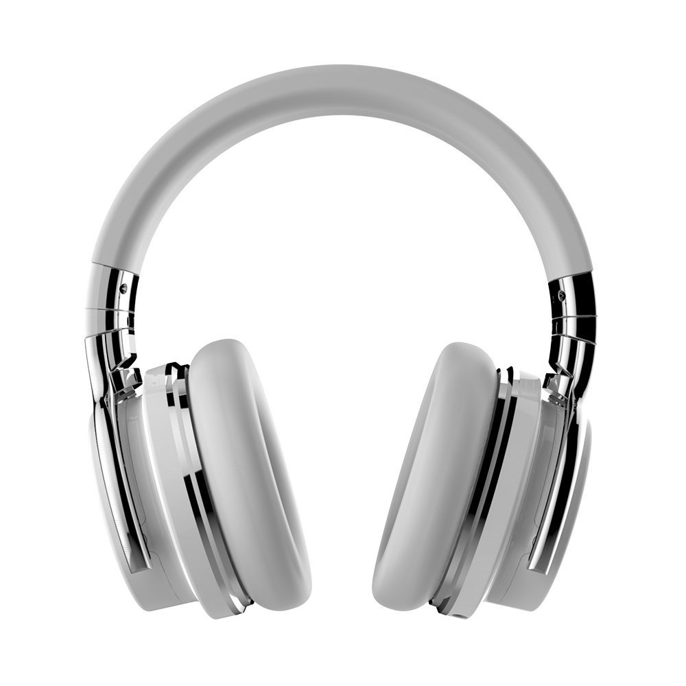 COWIN E7 Wireless Bluetooth Headphones with Mic Hi-Fi Deep Bass Wireless Headphones Over Ear, Comfortable Protein Earpads, 30 Hours Playtime for Travel Work TV Computer Phone - White by cowin (Image #2)