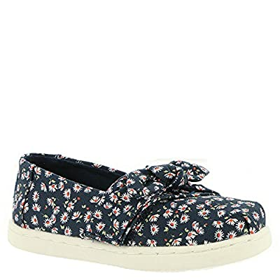 TOMS Kids Baby Girl's Alpargata (Infant/Toddler/Little Kid) Navy Ditzy Daisy/Bow 7 M US Toddler