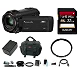 Panasonic HC-VX981K 4K Ultra HD Camcorder with Sony 32GB Memory Card & Focus Accessory Bundle