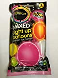illooms LED Light Up Party Ballons - Multicolored 5 Pack