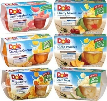 - Dole Fruit Cup Sampler in 100% Juice 4/4oz Cups (Variety Pack of 6 Different Flavors)