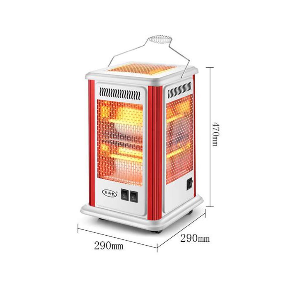 CJC Eléctrico Calentadores Estufa 2 Calor Ajustes Cuarzo Tubo 360 Grados Calefacción Multifuncional Calefacción: Amazon.es: Hogar