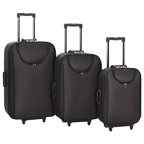 vidaXL 3X Maletas Blandas de Tela Oxford Accesorios Viajes ...