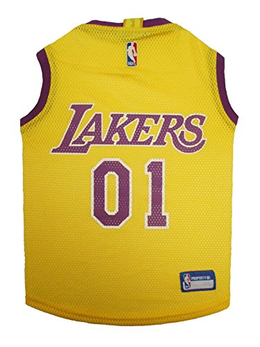LOS ANGELES LAKERS Dog Jersey ★ ALL SIZES ★ Licensed NBA (Large) (Lakers Costume)
