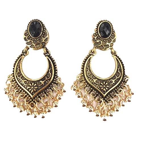 Women's Earrings Studs,Lavany Indian Bollywood Style Gold Plated Wedding Wear Traditional Polki Earrings Jewelry for Women (Gold) ()