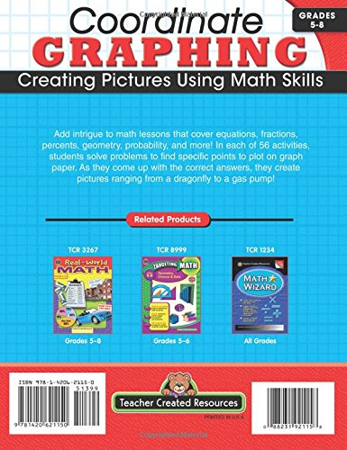 Counting Number worksheets graphing coordinates pictures worksheets : Coordinate Graphing: Creating Pictures Using Math Skills, Grades 5 ...