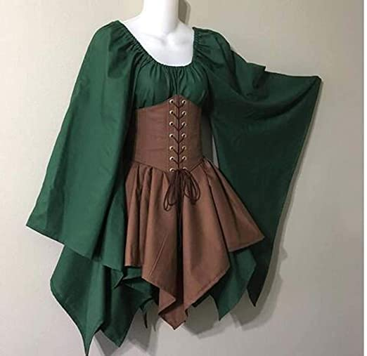 PORU Spritumn Disfraces De Halloween Vestidos Disfraces Gótico ...