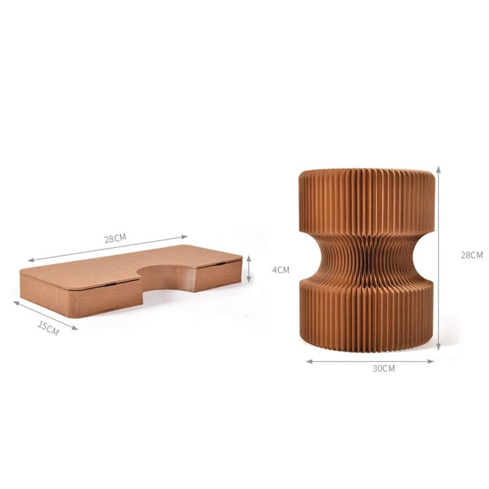 GBXX Moda Creativa Muebles pequeños Taburete Antideslizante Creativo Taburete Redondo Simple Taburete Plegable Taburete Hogar Salvaje Diseño de Moda Multifunción Hogar Creativo,marrón,30 * 28 cm