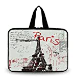 OHS17-035 New Fashion Arts Design PARIS 16''/ 16.5''/ 17'' / 17.3''/17.4'' inch Netbook Tablet Laptop soft Neoprene Sleeve bag Case Carrying cover pouch Holder Protection with Outside Handle for 17'' Apple Macbook Pro / SONY VAIO E17 / 17.3'' HP ZBook 17 / Dell