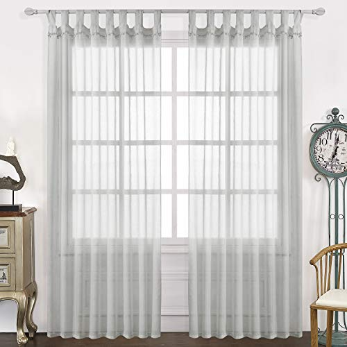 tab top curtains gray - 4