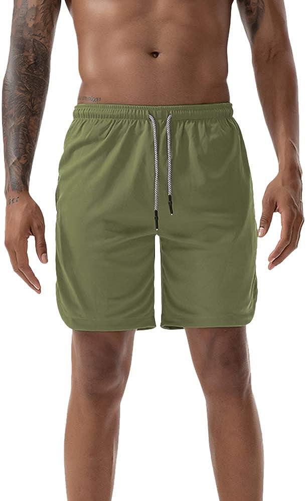 Heflashor 2-in-1 Shorts Homme de Sport /Ét/é Pantalons Casual Courts Compression avec Slip Slim Short Fitness Yoga S/échage Rapide Respirants avec Poche pour Jogging Gym
