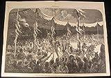 Indian Ceremony Sun Dance Suspended Pierced Pectorals 1875 nice antique print