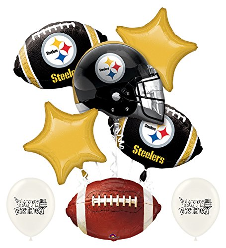 NFL AFC Football Teams Party Balloon Bouquet Bundle with Team Option (Pittsburgh -