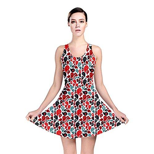 Jogja Musical Smiley Faces In Speech Bubbles Pattern Reversible Skater Dress