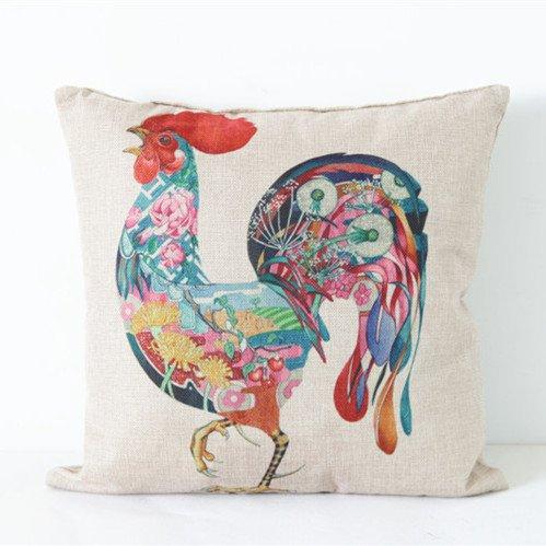 color del paño de algodón Simple pollo cojín cojines de sofá ...
