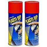 2 PACK PLASTI DIP Mulit-Purpose Rubber Coating Spray RED 11oz Aerosol